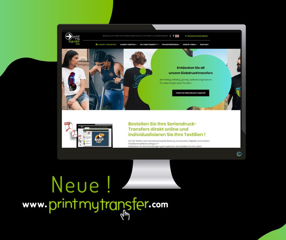 PrintMyTransfer hat ein komplettes Makeover hinter sich: eine neue Webseite für das neue Jahr !